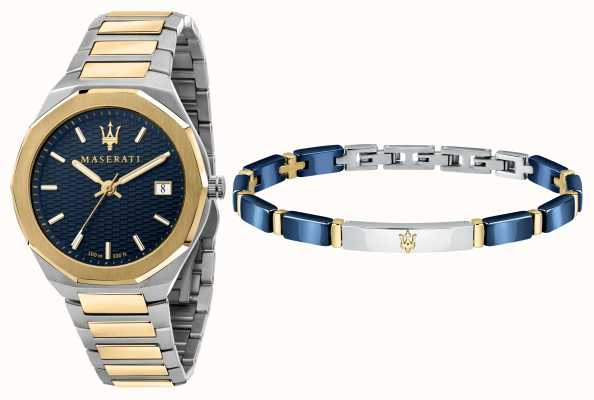 Maserati Мужской подарочный набор Stile 3h, часы и браслет R8853142008