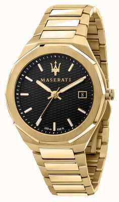 Maserati Мужские позолоченные часы stile 3h data R8853142004