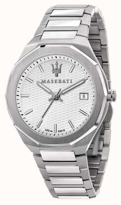 Maserati Мужские наручные часы с белым циферблатом в стиле 3h Data R8853142005