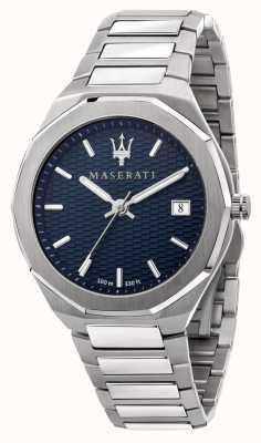 Maserati Мужские наручные часы с синим циферблатом в стиле 3h data R8853142006