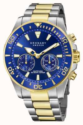 Kronaby Коллекция дайверов | bluetooth | синий циферблат | двухцветный стальной браслет S3779/1