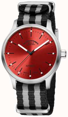 Muhle Glashutte Красный двухцветный ремешок нато панова M1-40-78-NB