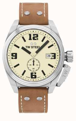 TW Steel Мужской кожаный ремешок коричневый кожаный TW1000
