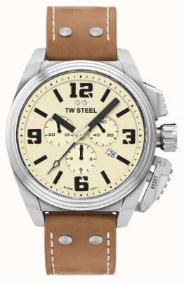TW Steel Столовая хронограф кремовый циферблат TW1010
