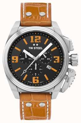 TW Steel Часы Canteen с оранжевым кожаным ремешком TW1012