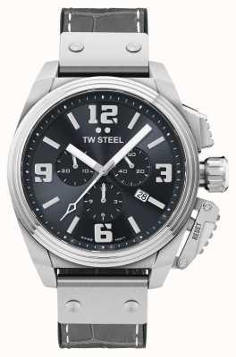 TW Steel Часы Canteen с серым кожаным ремешком TW1013
