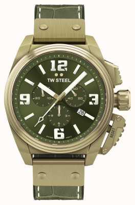 TW Steel Столовая, бронзовый циферблат с пвд-покрытием, зеленый TW1015