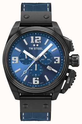 TW Steel Столовая черный циферблат с синим покрытием из ПВХ TW1016