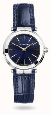 Michel Herbelin Женские часы Newport с синим кожаным ремешком и синим циферблатом 16922/T15BL