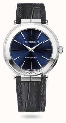 Michel Herbelin Часы Newport Slim 42 мм с синим циферблатом 1222/AP15