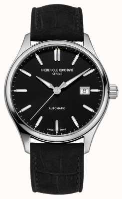Frederique Constant Классический индекс 40 мм черный кожаный ремешок FC-303NB5B6