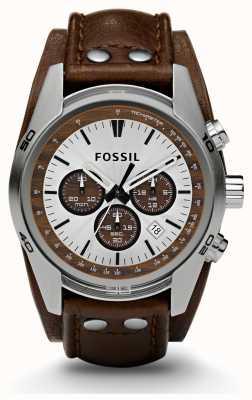 Fossil Мужские спортивные хронографы коричневой кожи ремешок смотреть CH2565