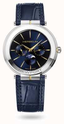 Michel Herbelin Часы Newport slim moonphase с кожаным ремешком 12722/T15BL