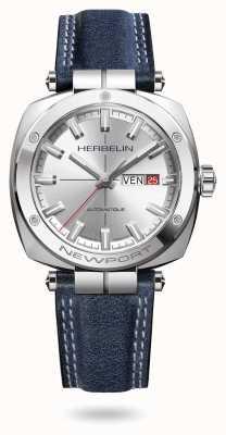 Michel Herbelin Часы Newport Heritage с серебряным циферблатом в виде солнечных лучей 1764/AP11BL