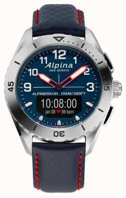 Alpina | альпинеркс | умные часы | синий кожаный ремешок | AL-284LNNR5SSAQ6L