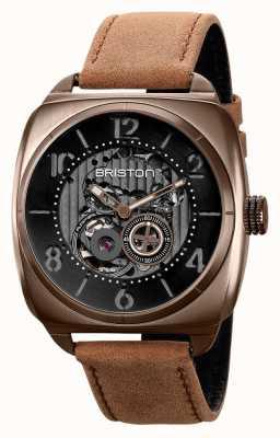 Briston Наручные часы Clubmaster skeleton цвета хаки с пвд 211042.SPK.SK.5.BR