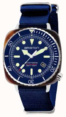 Briston Темно-синий ремешок Diver Pro из ацетата nato 21644.SA.T.15.NNB