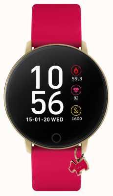 Radley Смарт-часы серии 5 с розово-малиновым ремешком и подвеской в виде собаки RYS05-2036