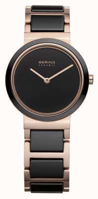 Bering Женская | полированное розовое золото | браслет из черного и розового золота 10729-746