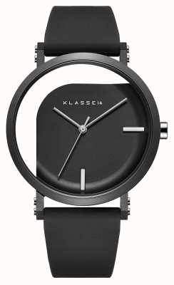 Klasse14 Черный силиконовый ремешок диаметром 40 мм с несовершенным углом WIM19BK011M