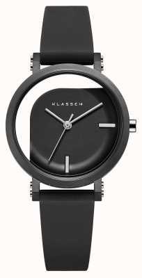 Klasse14 Черный силиконовый ремешок диаметром 32 мм с несовершенным углом WIM19BK011W