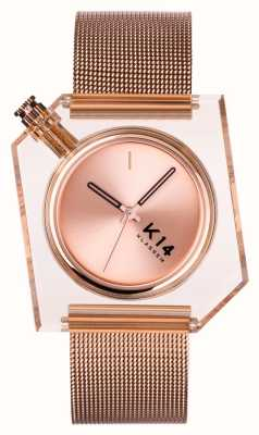Klasse14 K14 миланская сетка из розового золота 40 мм WKF20RG001M