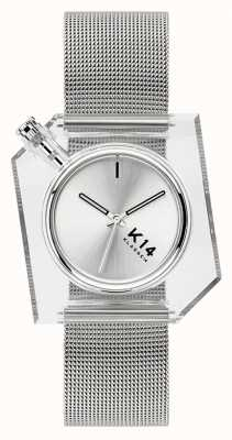 Klasse14 K14 серебряный браслет из миланской сетки 40 мм WKF20SR001M