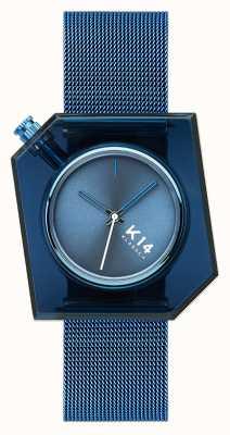 Klasse14 K14 браслет из миланской сетки 40 мм синего цвета WKF20BE002M