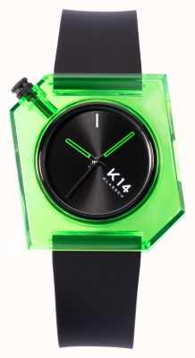 Klasse14 K14 зеленый силиконовый ремешок 40 мм, черный WKF19GN001M