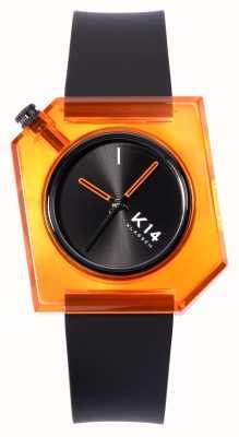 Klasse14 K14 think orange 40 мм черный силиконовый ремешок WKF19OE001M