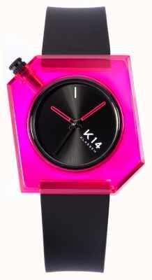 Klasse14 К14 кукла розовая 40мм черный силиконовый ремешок WKF19PK001M